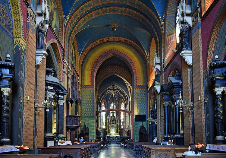 Костёл Святого Франциска Ассизского - достопримечательности Кракова