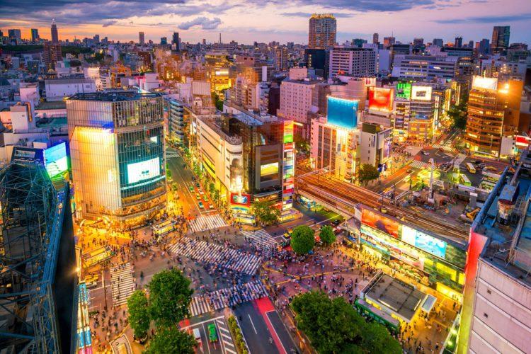 Перекресток на Сибуя - достопримечательности Токио