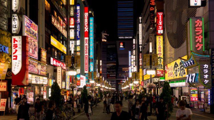 Улочка на Синдзюку - достопримечательности Токио