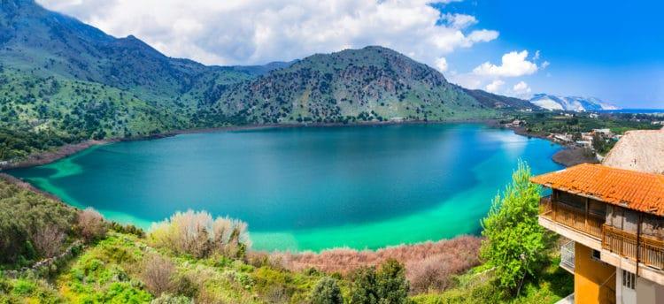 Озеро Курна - достопримечательности Крита