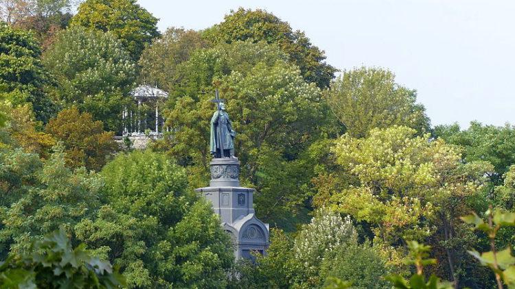 Парк Владимирская горка - достопримечательности Киева