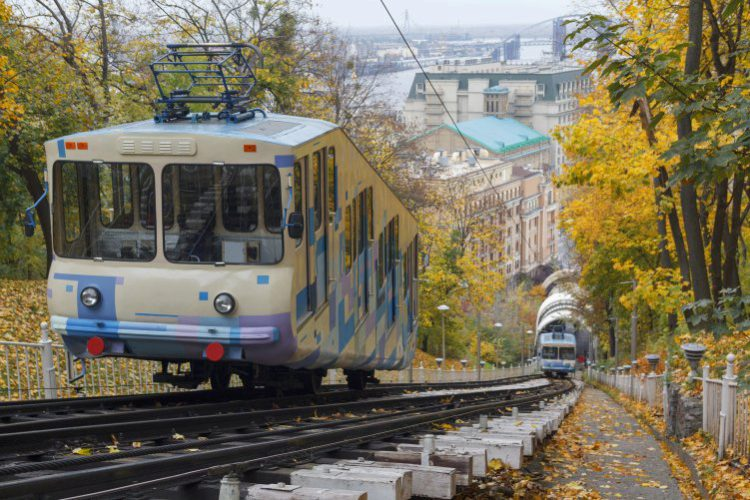 Киевский фуникулёр - достопримечательности Киева