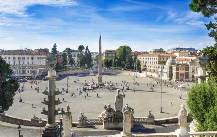 Пьяцца-дель-Пополо - достопримечательности Рима
