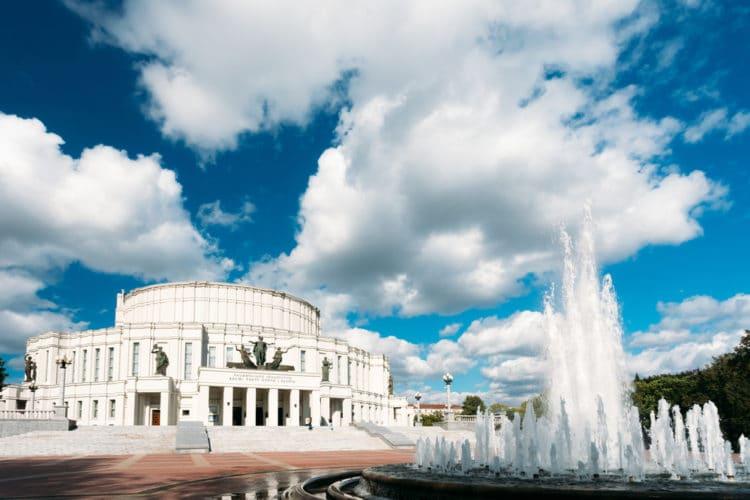 Большой театр оперы и балета - достопримечательности Минска