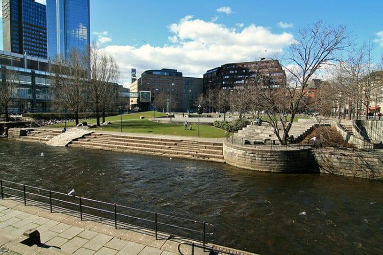 Река Акерсельва - достопримечательности Осло