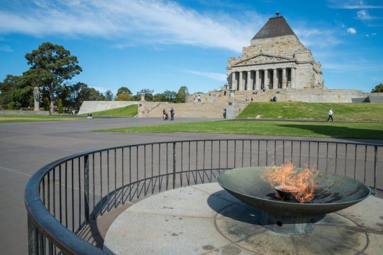 Монумент памяти - достопримечательности Мельбурна