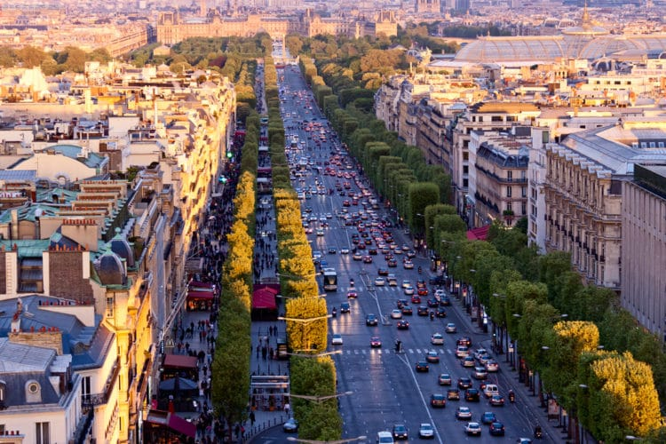 Елисейские Поля - достопримечательности Парижа