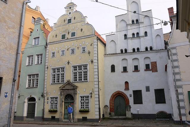 Комплекс зданий Три брата - достопримечательности Риги
