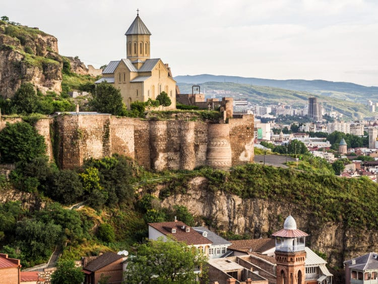 Крепость Нарикала - достопримечательности Тбилиси