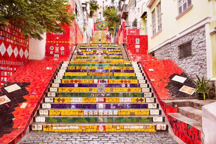 Лестница Селарона - достопримечательности Рио-де Жанейро