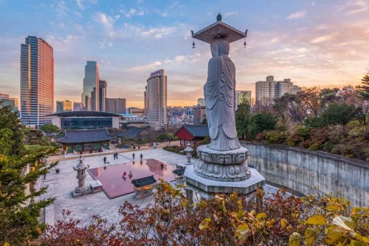 Храм Бонгеунса - достопримечательности Сеула