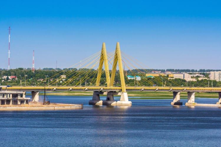Мост Миллениум в Казани - достопримечательности Казани