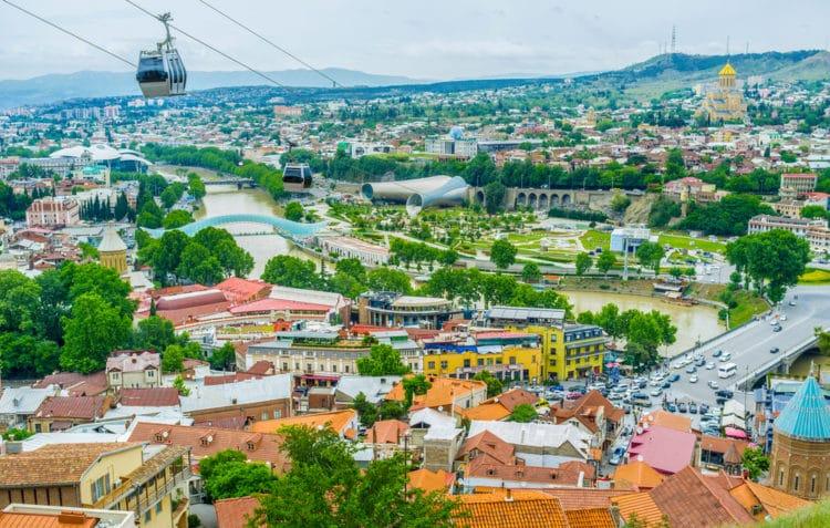 Канатная дорога - достопримечательности Тбилиси
