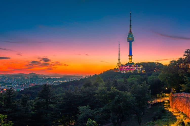 Сеульская телебашня - достопримечательности Сеула