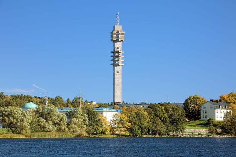 Телебашня Какнес - достопримечательности Стокгольма