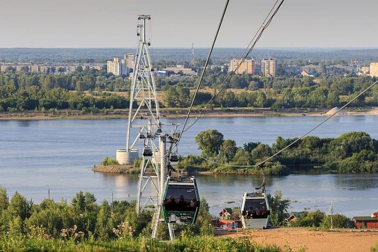 Нижегородская канатная дорога - достопримечательности Нижнего Новгорода