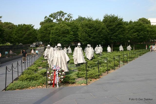 Мемориал ветеранам Корейской войны - достопримечательности Вашингтона