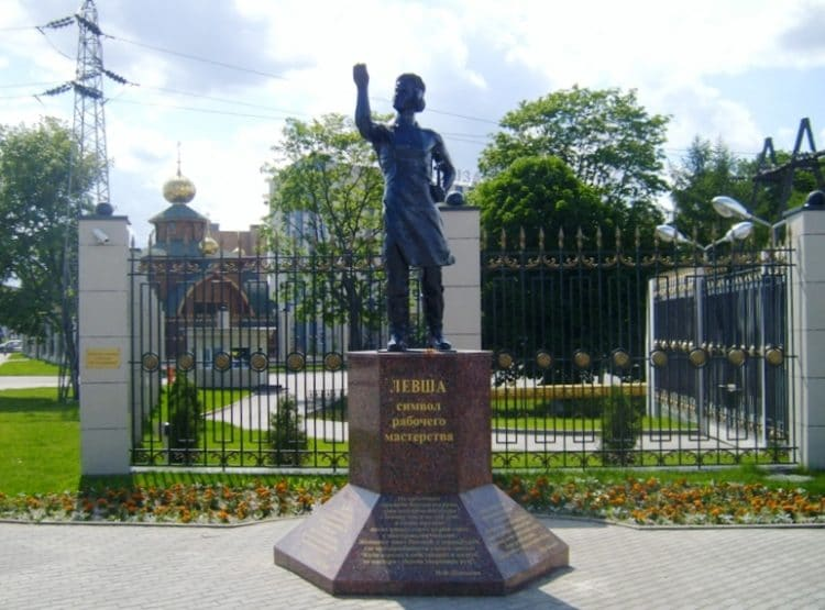 Памятник Левше - достопримечательности Тулы