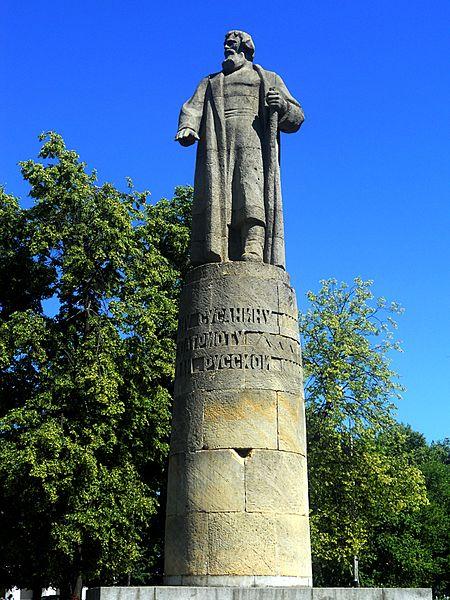Памятник Ивану Сусанину - достопримечательности Костромы