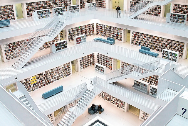 Городская библиотека Штутгарта - достопримечательности Штутгарта