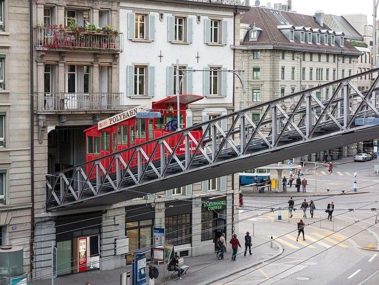 Фуникулёр Полибан - достопримечательности Цюриха