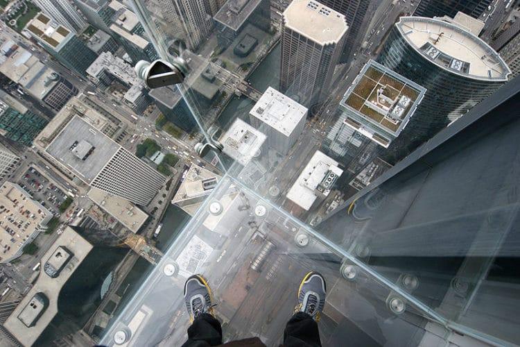 Обзорная площадка небоскрёба Уиллис Тауер - достопримечательности Чикаго