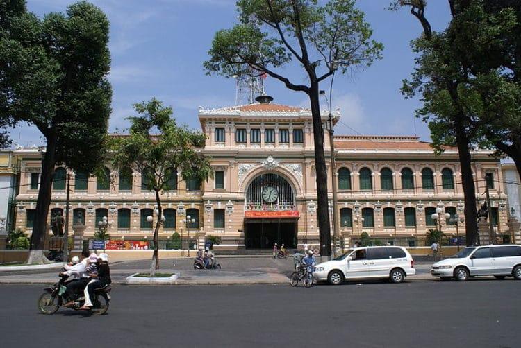 Центральное почтовое отделение - достопримечательности Хошимина