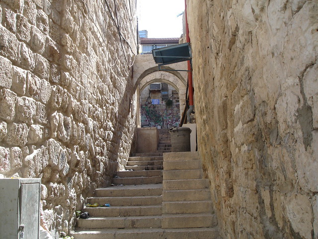 Улица Виа Долороза в Израиле