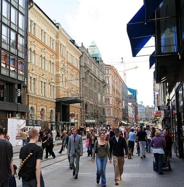 Улица Алексантеринкату в Финляндии