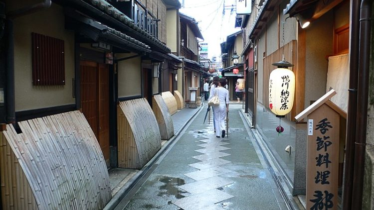 Квартал Понто-тё в Японии