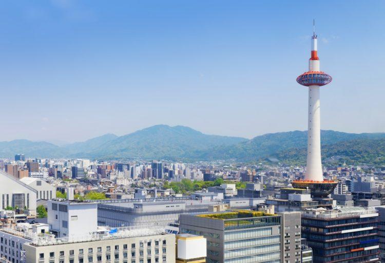 Киотская башня в Японии