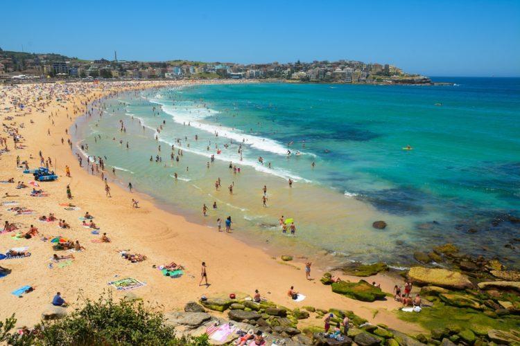 Пляж Бонди в Австралии