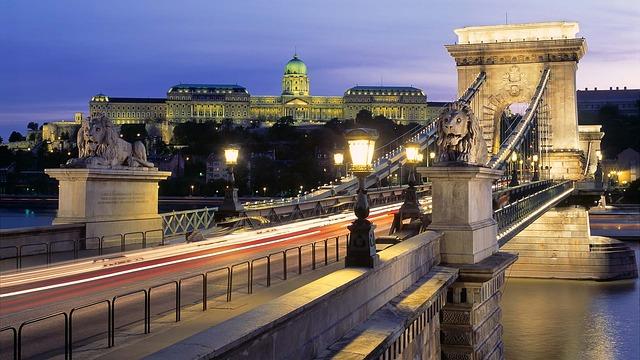 Цепной мост Сечени в Венгрии