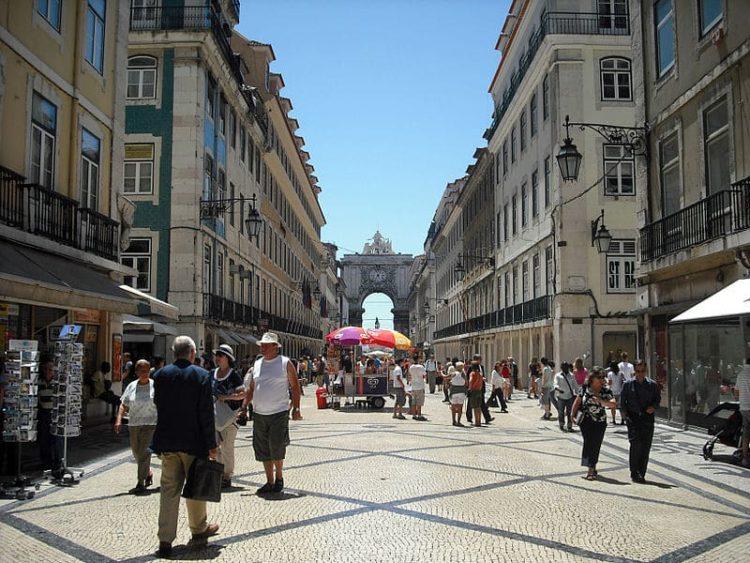 Улица Аугушта в Португалии