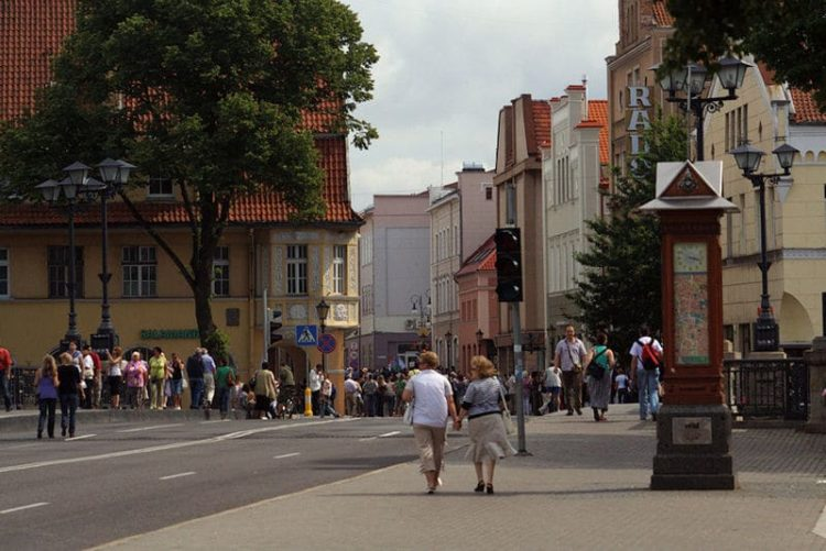 Старый город Клайпеды в Литве