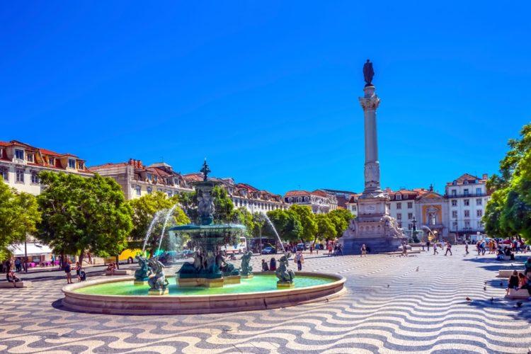 Площадь Росиу в Португалии
