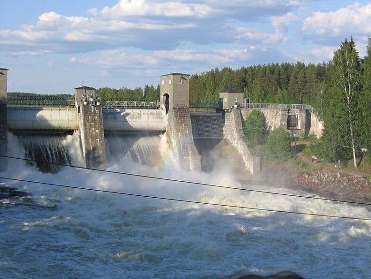 Водоскат Иматранкоски в Финляндии