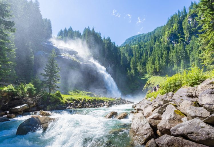 Водопад Криммлер в Австрии
