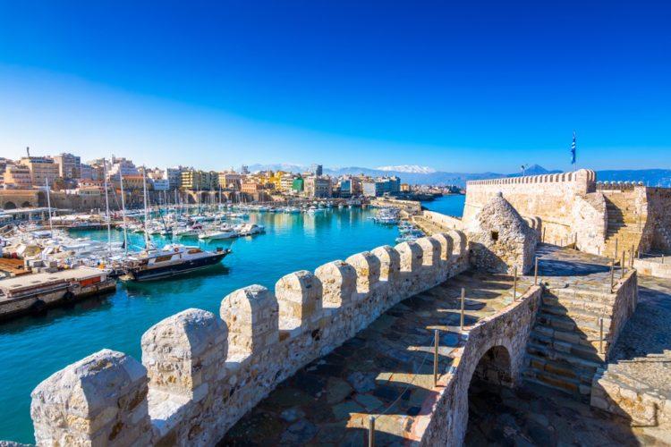 Венецианская гавань Ханья в Греции