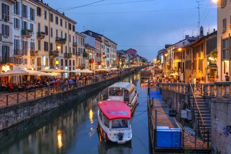Канал Навильо Гранд в Италии