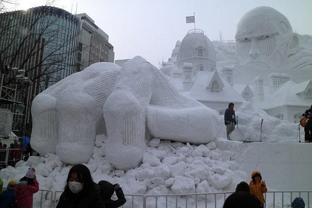 Снежный фестиваль в Саппоро в Токио