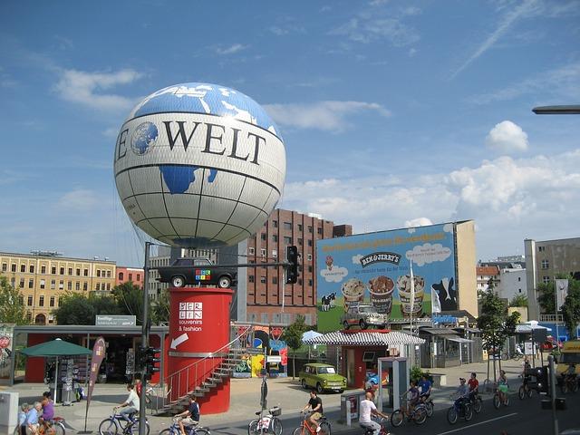 Воздушный шар Die Welt в Германии