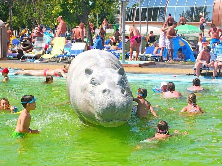 Аквапарк «Хайдусобосло» в Венгрии