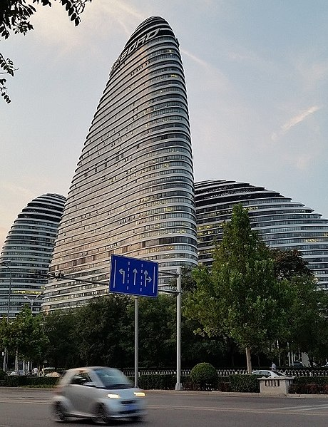 Небоскрёбы Wangjing SOHO в Китае