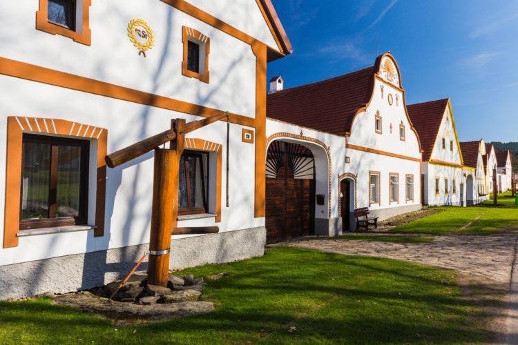 Историческая деревня Голашовице в Чехии