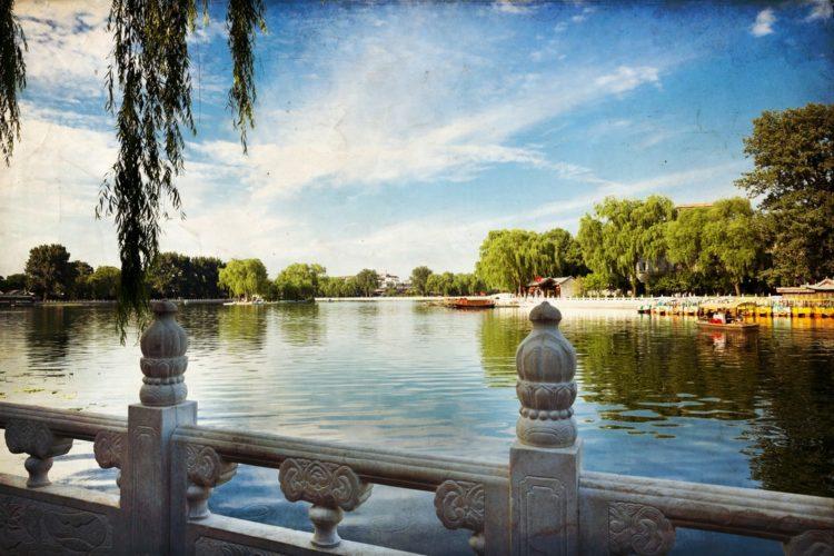 Озеро Хоухай в Китае