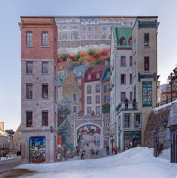 Квебекская фреска - достопримечательности Квебека