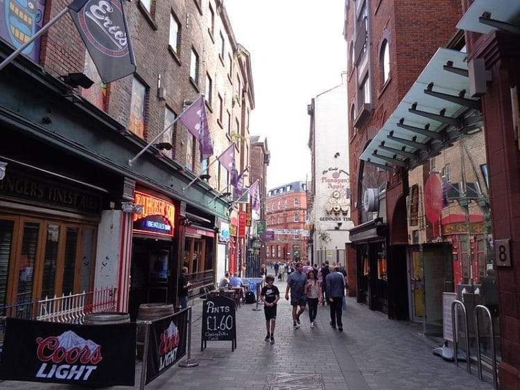 Улица Мэтью-стрит - достопримечательности Ливерпуля