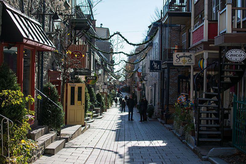 Улица Пти-Шамплейн - достопримечательности Квебека