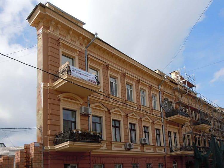 Дом-стена - достопримечательности Одессы
